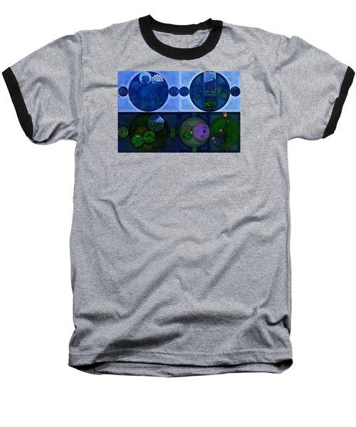 Baseball T-Shirt featuring the digital art Abstract Painting - Saint Patrick Blue by Vitaliy Gladkiy