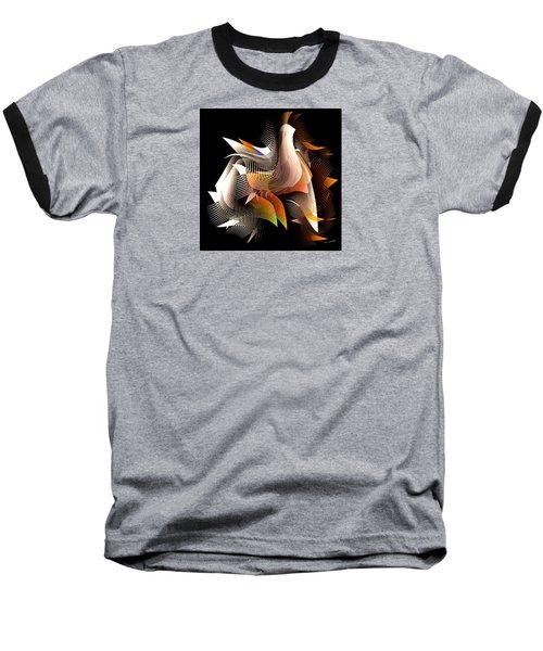 Abstract Peacock Baseball T-Shirt