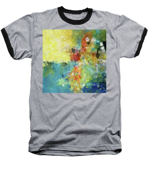 Baseball T-Shirt featuring the painting Abstract Seascape Painting by Ayse Deniz