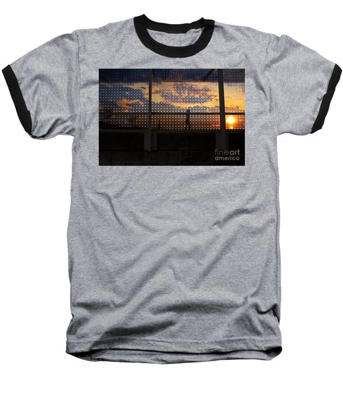 Abstract Silhouettes Baseball T-Shirt