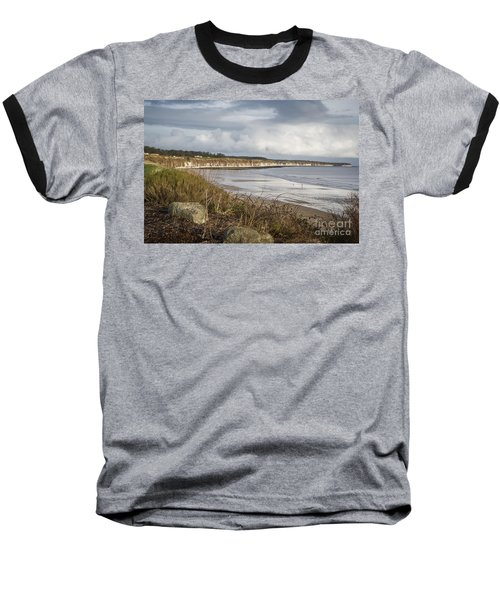Across The Bay Baseball T-Shirt by David  Hollingworth