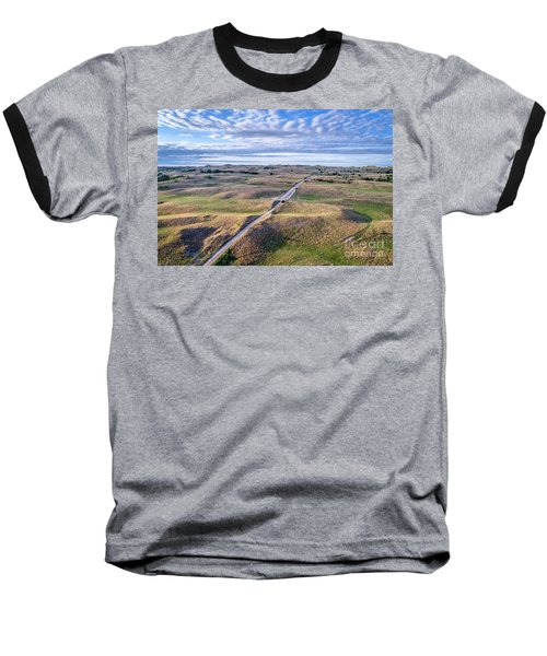 aerial view of Nebraska Sandhills  Baseball T-Shirt