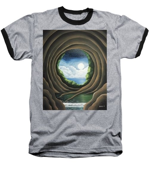 Baseball T-Shirt featuring the painting After The Storm by Edwin Alverio