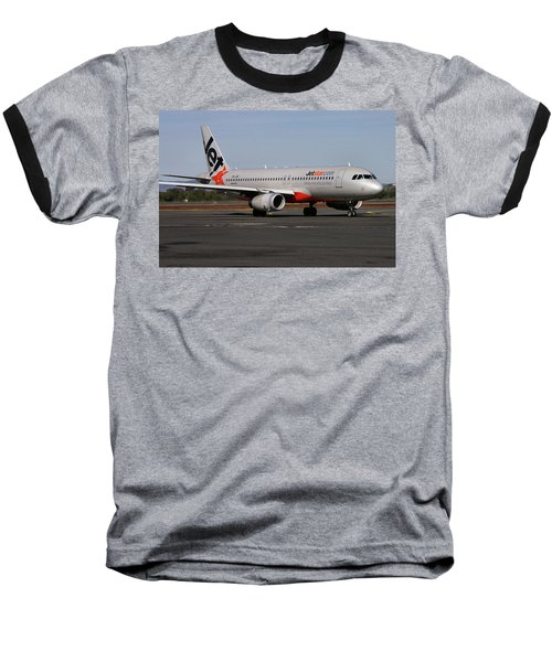 Airbus A320-232 Baseball T-Shirt by Tim Beach