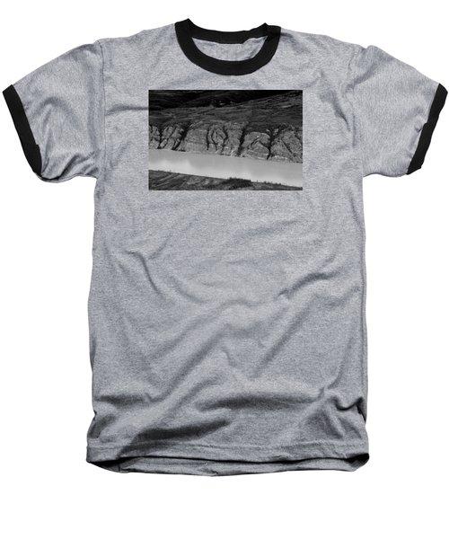 Airplane Flying Over The Yukon River Baseball T-Shirt