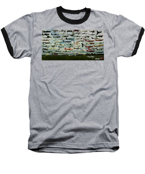 Airventure Cup Air Race, 2017 - Panorama Baseball T-Shirt