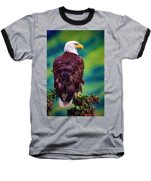 Alaska Bald Eagle Baseball T-Shirt