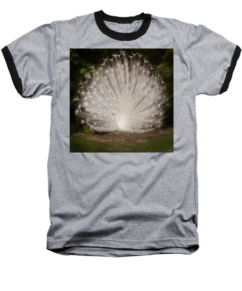 Albino Peacock  Baseball T-Shirt