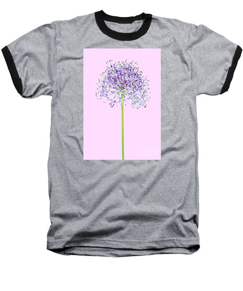 Allium Baseball T-Shirt by Tony Cordoza