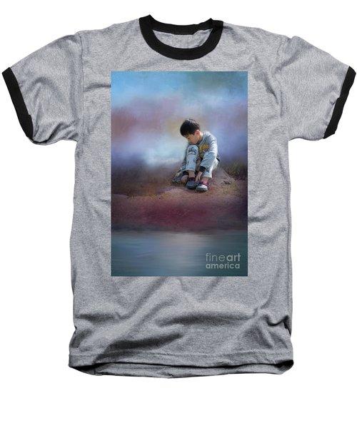 Alone Baseball T-Shirt by Eva Lechner