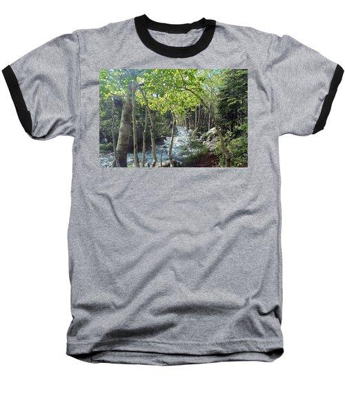 Along Alberta Falls Trail Rocky Mountain National Park Baseball T-Shirt