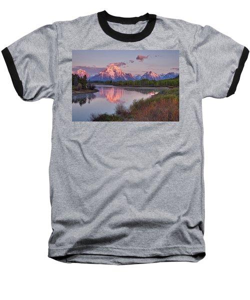 Alpenglow At Oxbow Bend Baseball T-Shirt