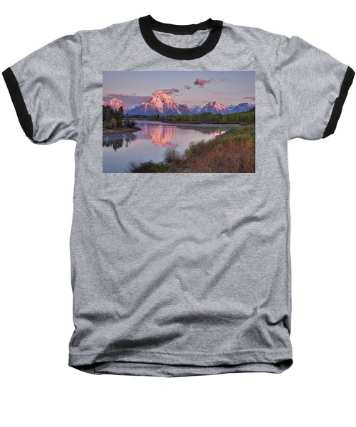 Alpenglow At Oxbow Bend Baseball T-Shirt