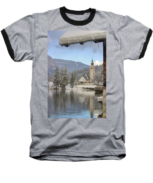 Baseball T-Shirt featuring the photograph Alpine Winter Clarity by Ian Middleton