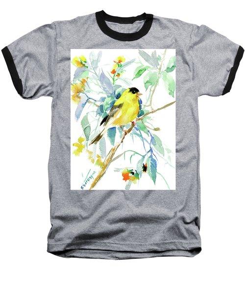 American Goldfinch Baseball T-Shirt by Suren Nersisyan
