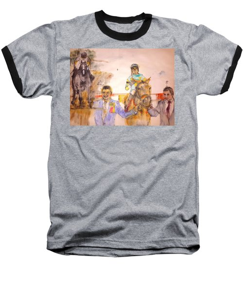 Baseball T-Shirt featuring the painting American Pharaoh Abum by Debbi Saccomanno Chan