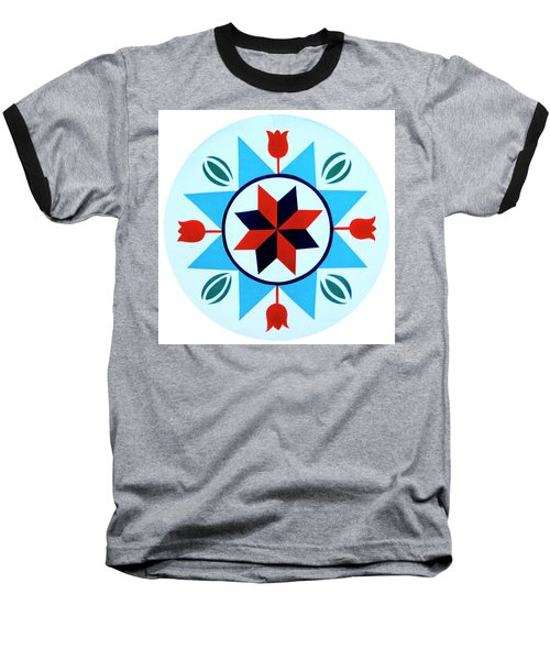 Baseball T-Shirt featuring the photograph Amish Hex Design by Paul W Faust - Impressions of Light