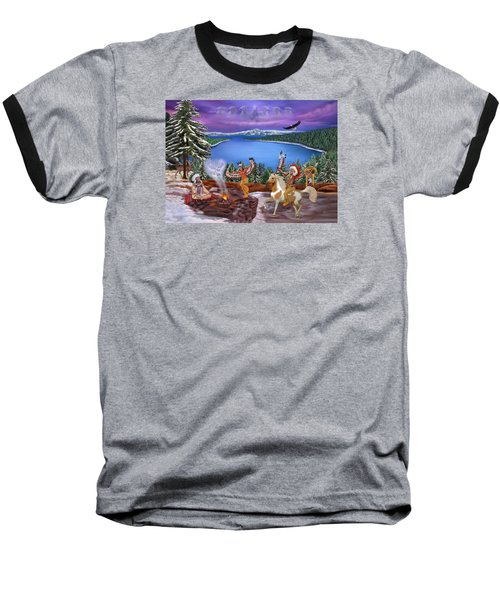 Among The Spirits Baseball T-Shirt by Glenn Holbrook