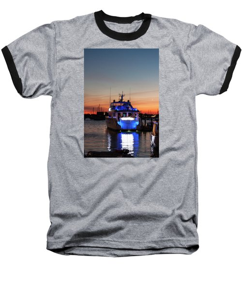 Baseball T-Shirt featuring the photograph An Evening In Newport Rhode Island by Suzanne Gaff