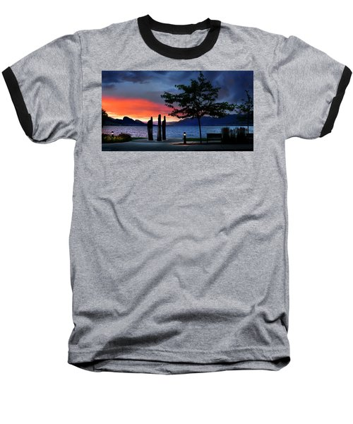 Baseball T-Shirt featuring the photograph A Sunset Story by John Poon