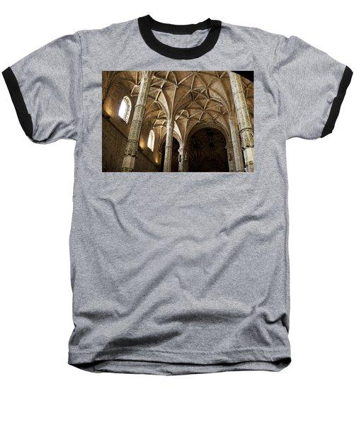 Lisbon Cathedral's Ancient Arches  Baseball T-Shirt
