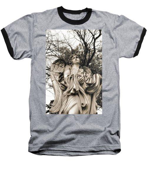 Angel In The Fall Baseball T-Shirt