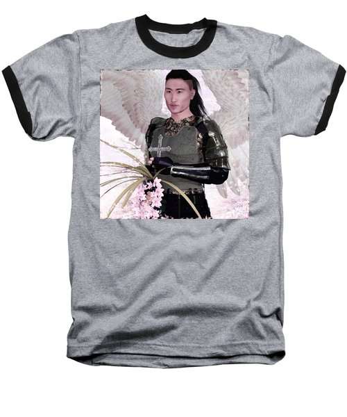 Angel Watercolor Baseball T-Shirt