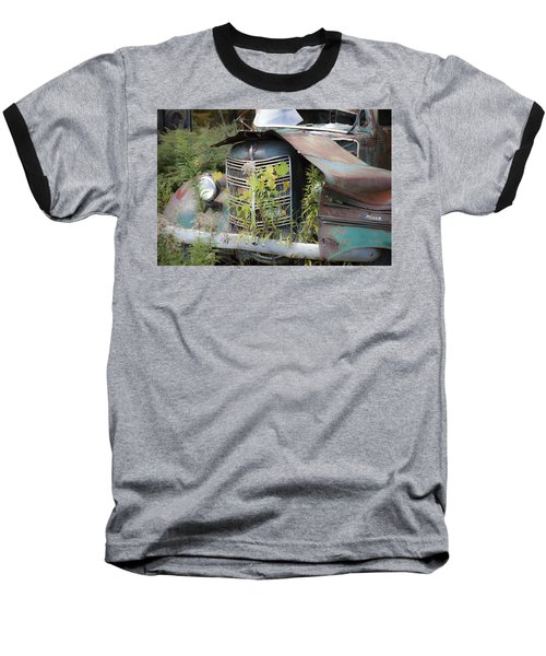 Baseball T-Shirt featuring the photograph Antique Mack Truck by Charles Harden