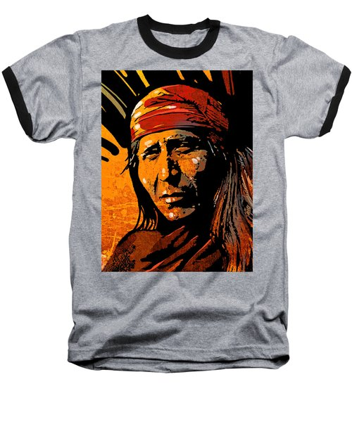 Apache Warrior Baseball T-Shirt