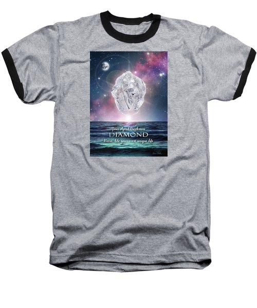 April Birthstone Diamond Baseball T-Shirt