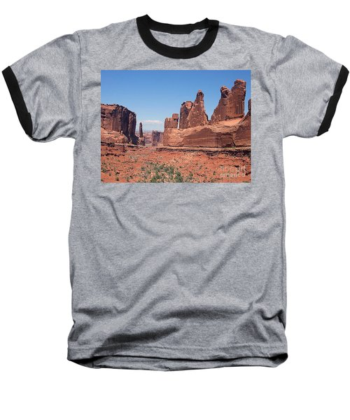 Arches National Park Panorama Baseball T-Shirt by Merton Allen