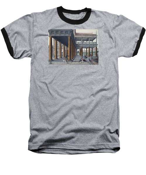 Architectural Caprice With Figures Baseball T-Shirt by Hans Vredeman de Vries