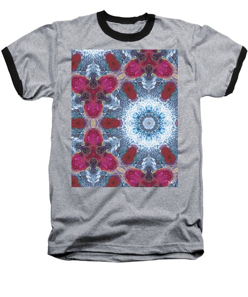Arctic Blossom Baseball T-Shirt by Maria Watt