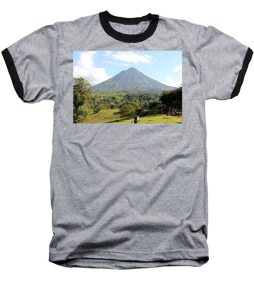 Arenal Volcano Baseball T-Shirt