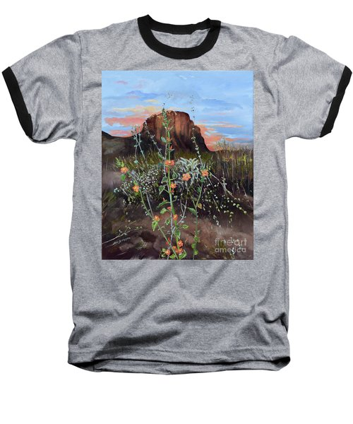 Arizona Desert Flowers-dwarf Indian Mallow Baseball T-Shirt
