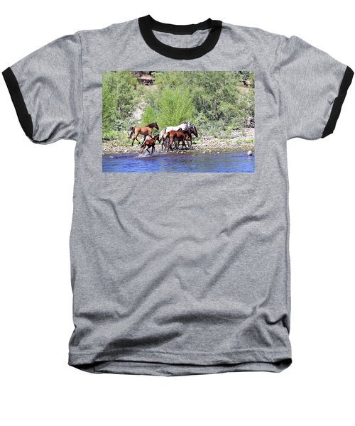 Arizona Wild Horses Baseball T-Shirt
