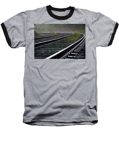 Around The Bend Baseball T-Shirt by Douglas Stucky