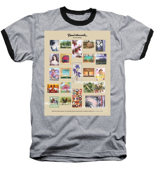Baseball T-Shirt featuring the painting Art Collection by Renee Womack