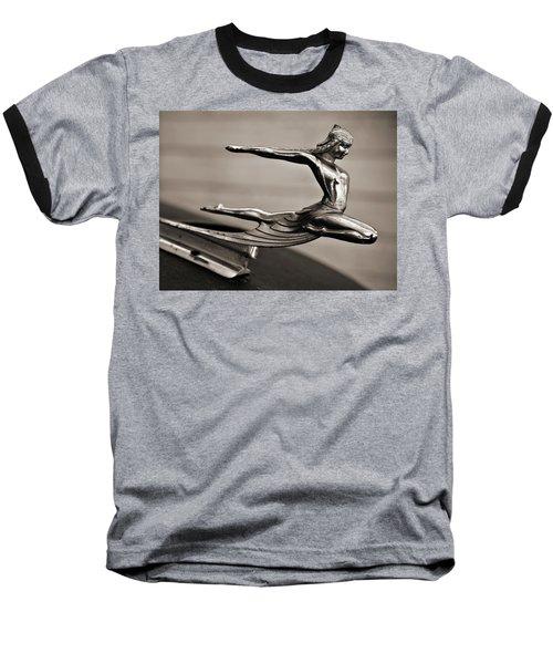 Art Deco Hood Ornament Baseball T-Shirt by Marilyn Hunt