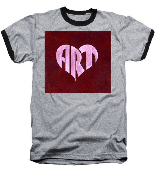 Art Heart Baseball T-Shirt