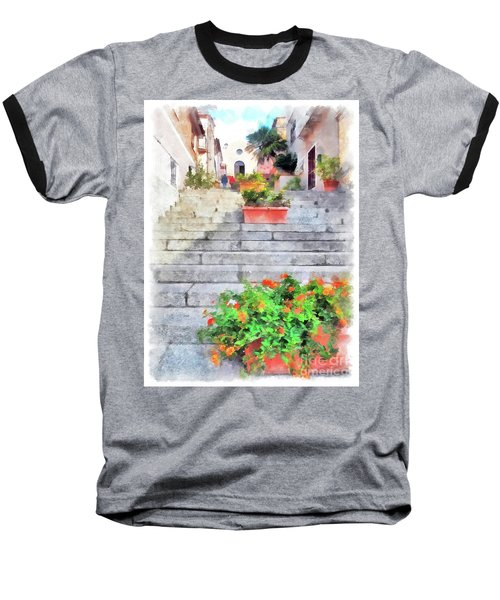 Arzachena Staircase And Church Of The Santa Lucia Baseball T-Shirt