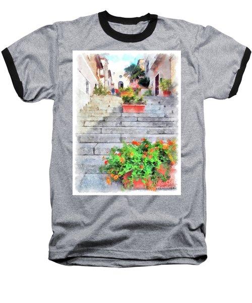 Arzachena Staircase And Church Of The Santa Lucia Baseball T-Shirt