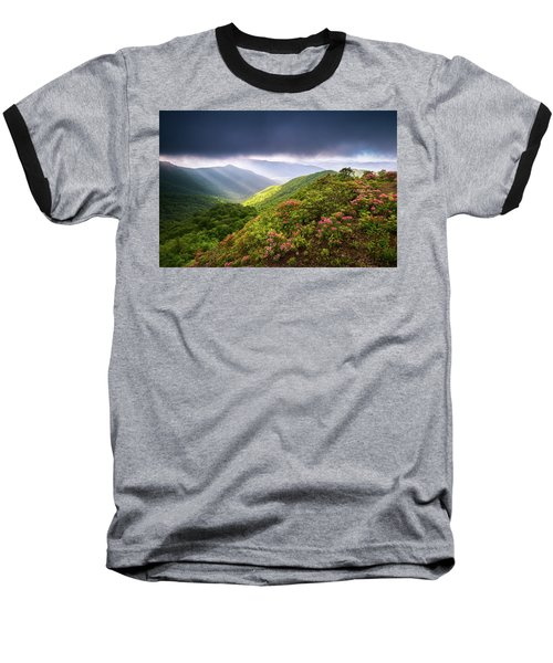 Asheville Nc Blue Ridge Parkway Spring Flowers North Carolina Baseball T-Shirt