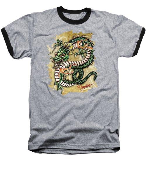 Asian Dragon Baseball T-Shirt by Maria Arango