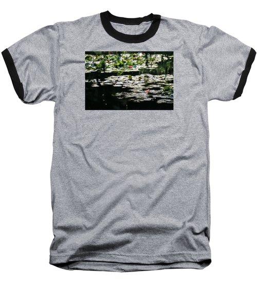 Baseball T-Shirt featuring the photograph At Claude Monet's Water Garden 7 by Dubi Roman