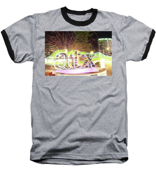 atx Baseball T-Shirt by Andrew Nourse