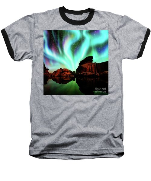Aurora Over Lagoon Baseball T-Shirt