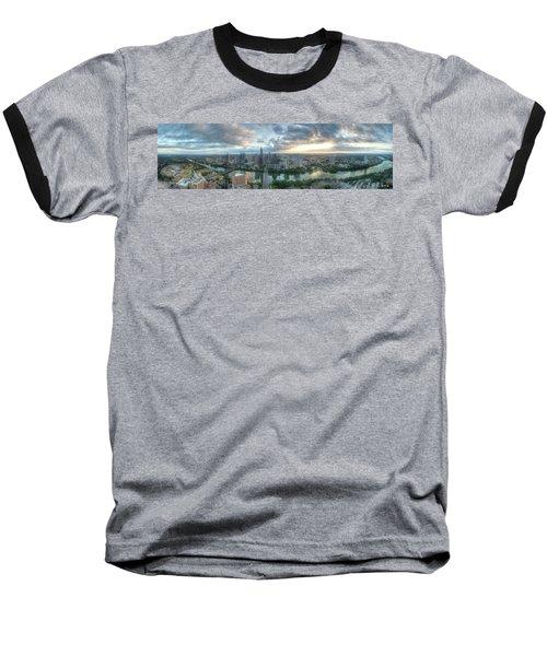 Austin Cityscape Baseball T-Shirt by Andrew Nourse