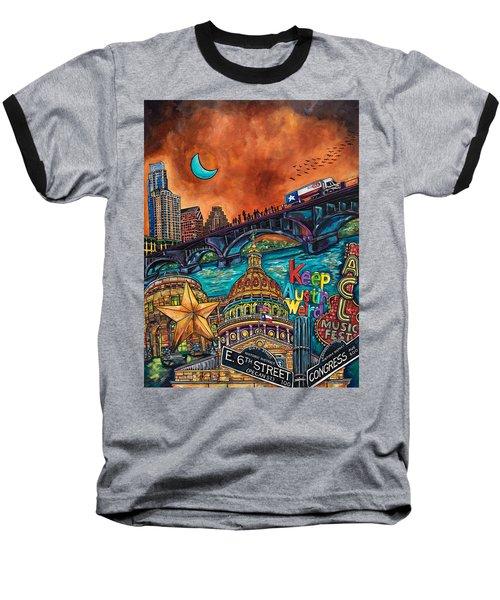 Austin Montage Baseball T-Shirt by Patti Schermerhorn