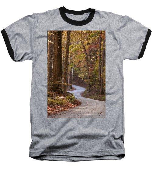 Autumn Drive Baseball T-Shirt by Andrew Soundarajan